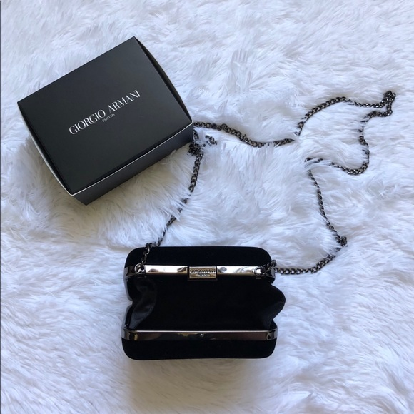 Giorgio Armani Bags   Small Velvet Clutch   Poshmark 5bbcb5bb2d